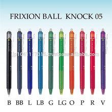 pilot pen frixion ball knock ballpoint pen 0.5 and 0.7 and design