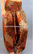 sexy girls wear silk Indian harem pants-beautiful Indian harem pant-silk peacock style harem pants