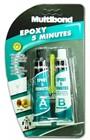 EPOXY Adhesive CARD 10ml Glue Metal Plastics Glass Porcelain Wood 5 Minutes