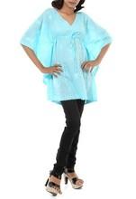 2015 la última moda nuevo llegado excelente calidad venta al por mayor de verano de algodón bordado mujeres Kaftan superior