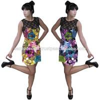 3516205-1 Printed Jeresy Sexy Party Fashion Women Dress