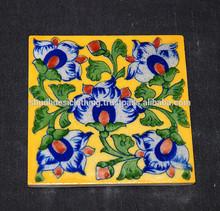 Buy Handmade Blue Pottery Tiles in Jaipur - Flooring & Ceiling Home Hotel Decor Tiles