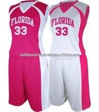 Neon Pink Basketball Uniforms