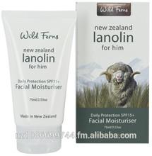 Wild Ferns New Zealand Lanolin For Him Facial Moisturiser w/SPF15 75ml