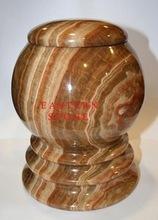 Marble Onyx Stone Ash Urn, Memorial Vases, Marker, Garden Urn, Namepal,,,