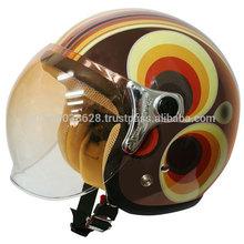 Retro modern design scooter helmet jet type for girls.