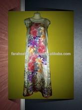 Printed Pure Silk Long Kurti