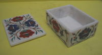 Marble Emporium, marble to marvel : products Marble Inlay Handicraft - Marble Inlay Boxes, Marble Inlay