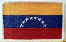 Venezuela Flag Embroidery Iron-On Patch Emblem White Border