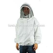 Beekeeping industry first choice 100% cotton protective beekeeping jacket,coveralls beekeeper jacket
