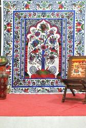 Tree Of Life Bedspread, Indian Tapestry, Colorful Bedsheet, Tree Of Life wall art, tree of life Tapestries, Queen Bedcover, Beac