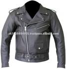 Chinese Garment Manufacturer Black Short Leather Motorcycle Jackets Pakistan