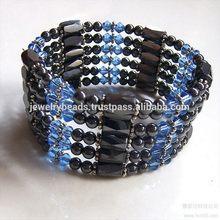Designer top sell hot pink magnetic mesh bracelet