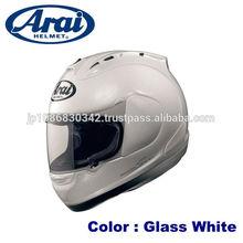 Aerodynamic ARAI carbon fiber motorcycle helmet available in various colors