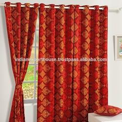 indian Diamond Checkered Sigma Curtains