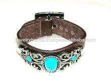Top level best selling leather bracelet flash