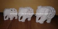 Stone Elephant Figurines, Marble Elephant Sculptures ! Rajasthan Marble Elephant