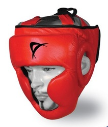 Red Boxing Safety Helmets, Head Guards,