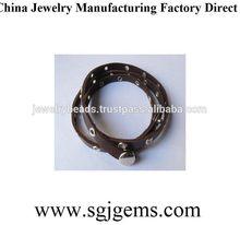 Cheap latest make leather cuff bracelet