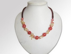 Contemporary useful coral beads necklace