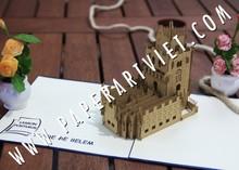 3D pop up Torre de belem Portugal greeting card