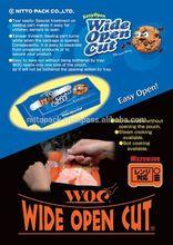 Durable de refuerzo de calor sello granola cereal de embalaje bolsa para microondas