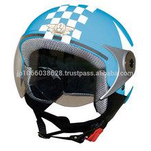 Japanese simple design jet type helmet for kids solid color.