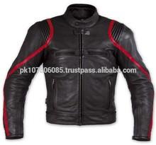 Rosso/nero collezione moto giacca in pelle moto giacca da corsa giacca 8979