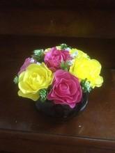 Vietnam souvenir artificial handmade clay rose peony bell flower for home garden office wedding decoration