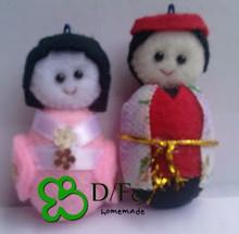Souvenir Japan Felt Doll Mini / boneka karakter Jepang mini