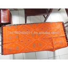 kain tenun endek katun motif mastuli bali warna orange