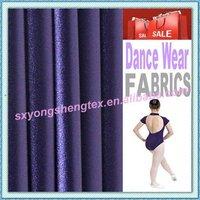 4 Way Stretch Shiny Polyester Spandex Nylon Spandex Gymnastics Leotard Fabric