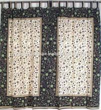 indian Floral Artisan Cotton Print India Door Window Curtain