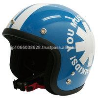 Stylish kids motorcycle helmet.Wheel motif design from DAMMKIDS