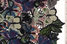 New High Quality Multi color Guipure Lace, black, cobalt, cream, eggplant, grey, kiwi, peach, rust and sea women's wedding dress