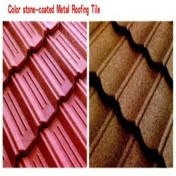 New Recyclable Building Material Colorful Stone Coated Metal Roofing Tile
