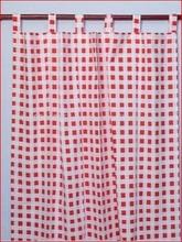 good quality wholesale big check design curtains