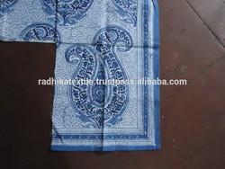 RTHCF-155 Floral print Hand block printed Sanganeri natural cotton cambric running fabric wholesaler and Indian manufacturer