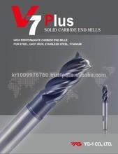SOLID CARBIDE END MILLS (V7 PLUS)