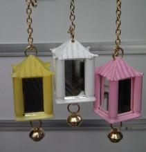 Bird Toys Lantern Mirror with Bell