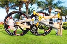 "Rockefellerr 21"" Speed Mountain Bike Folding Bicycle 26 Bicicletas Full Suspension for Man"