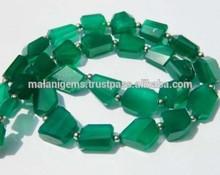 Emerald Green Onyx Stone Gemstone Faceted Irregular Nugget-Green Onyx Step cut Nuggets semi precious