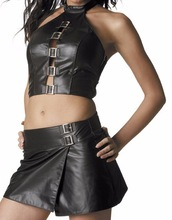 2015 Newest Pu Leather Sexy Costumes Uniform