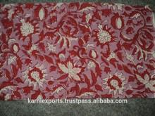 Bloque de la mano del telas étnico de apariencia vintage de la telas con bloque de la mano del impreso artesanía