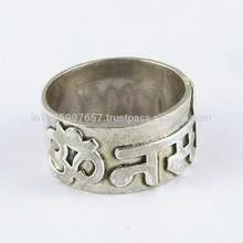 925 ayar om gümüş yüzük, el yapımı gümüş takılar, gümüş takı Hindistan