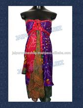 wholesale saree wrap skirts / silk coverup swimwear wraps skirt
