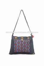 Large Diamond Embroidery Ethnic Cross Body Bag Thailand