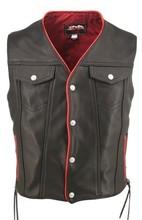 Motorcycle Genuine cowhide leather vest