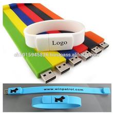Bulk Cheap 1gb 2gb 4gb 8gb Pvc Or Silicone Bracelet Usb Flash Drive