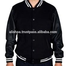 New Stylish Wool Leather Varsity Jackets / casual jacket / basket ball jacket 9057